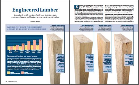 engineered lumber magazine spread