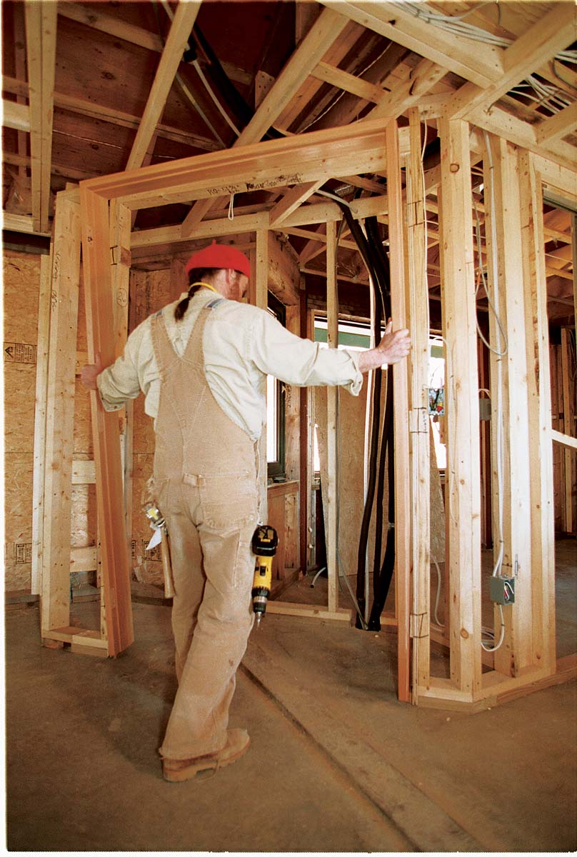 Because of their design, these jambs require that the plasterboard be hung after the jambs are installed.