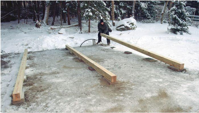 skid shed foundation