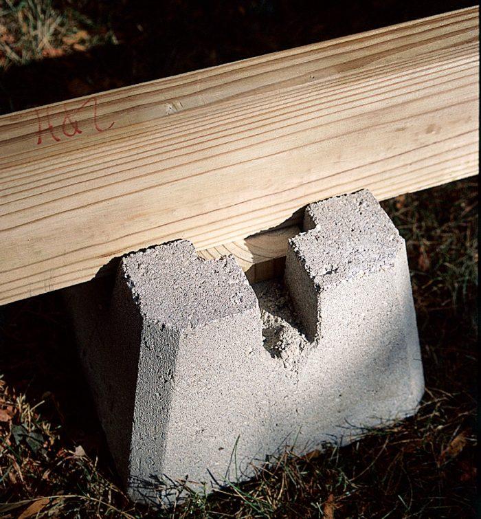 precast concrete shed footing