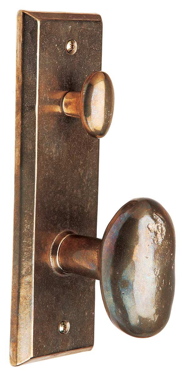 A keyed lockset with a handle from Rocky Mountain Hardware