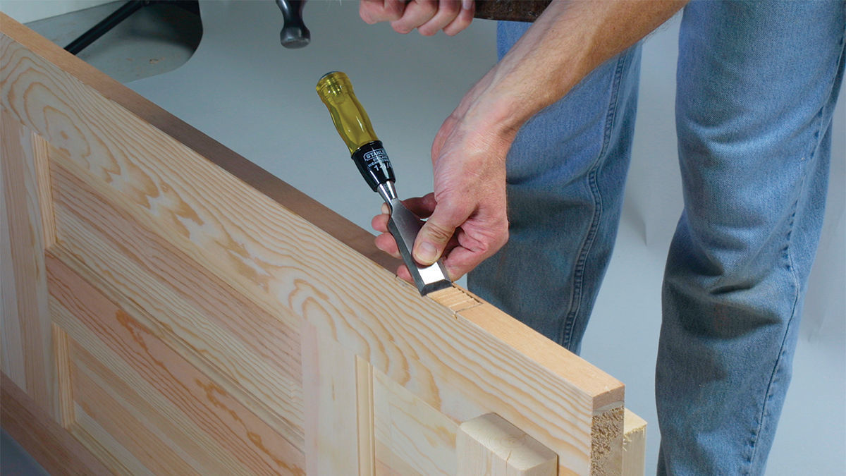 A series of shallow cuts is the key to a precise mortise.