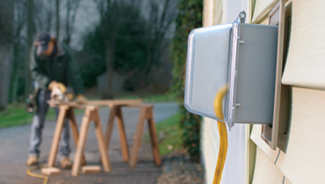 outdoor outlet on home