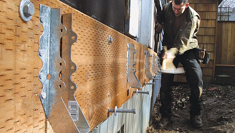 installing a deck ledger board