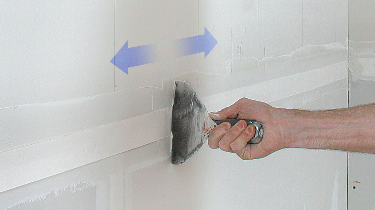 tapered horizontal drywall seams