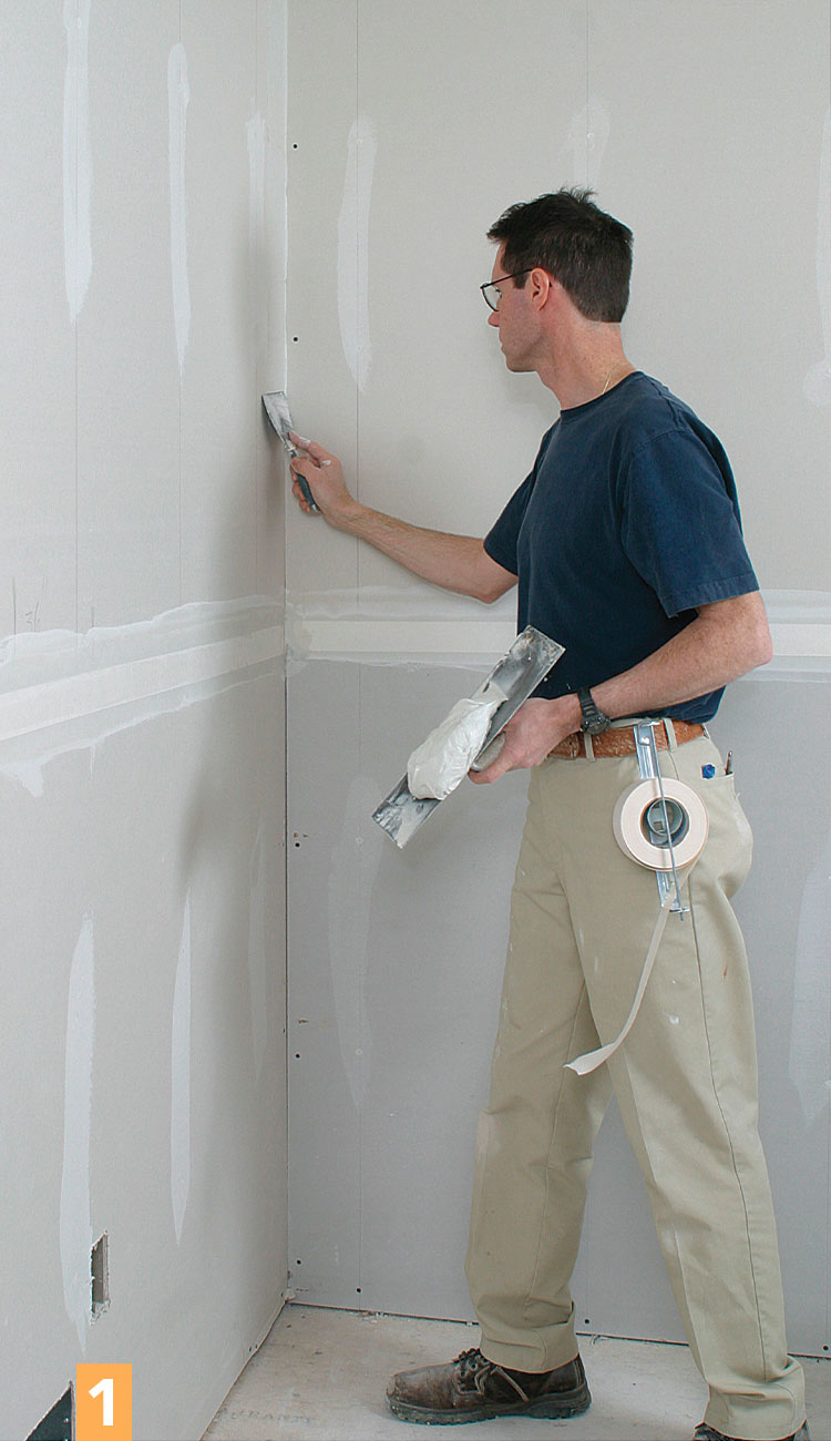coating drywall corners