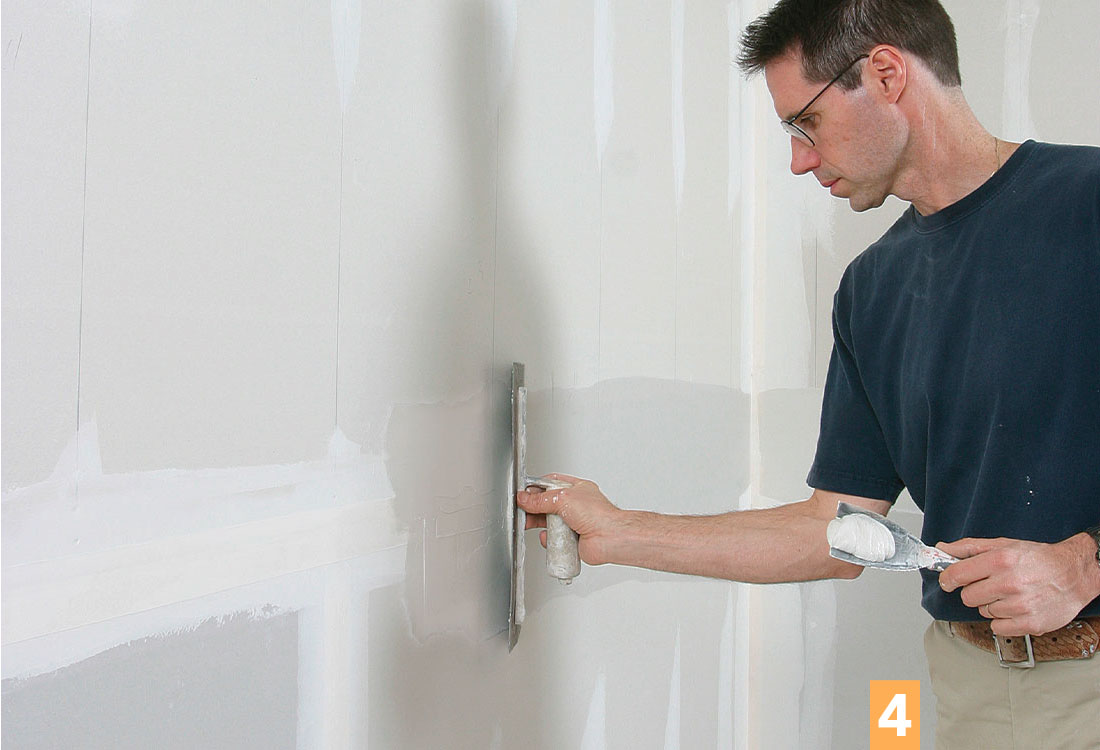 smooth drywall seams