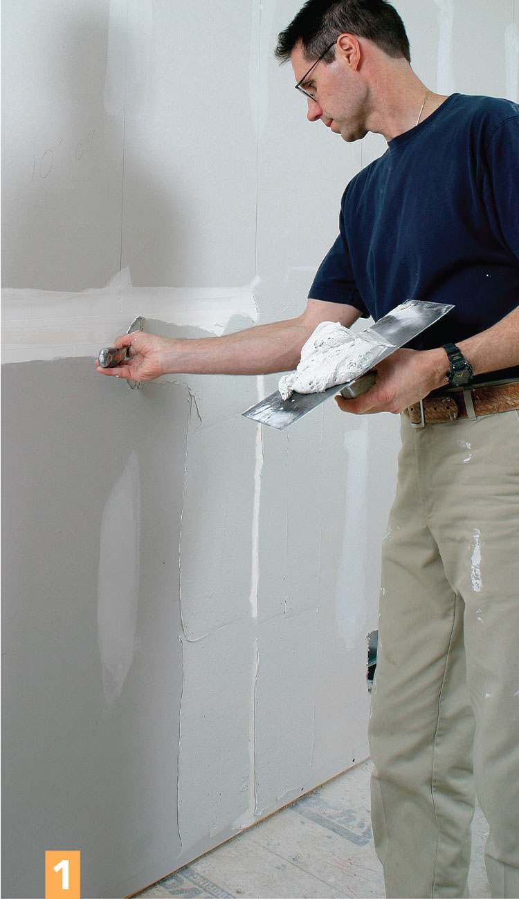 blending drywall compound