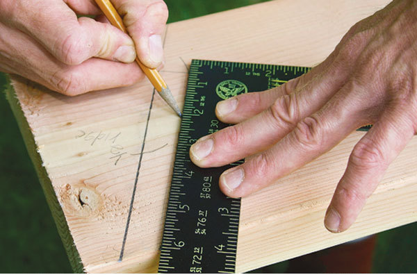 Trim the plumb cut to account for the ridge board