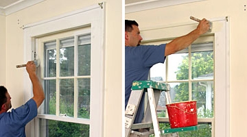 painting window faces and frames