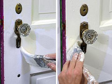 painting around a door knob