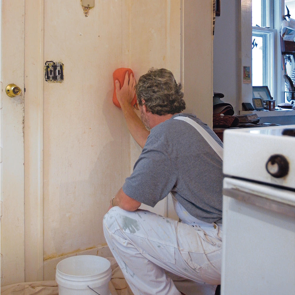cleaning walls for paint