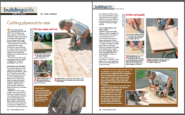 cutting plywood to size magazine spread