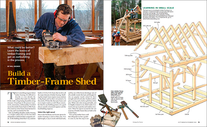 Build a Timber-Frame Shed