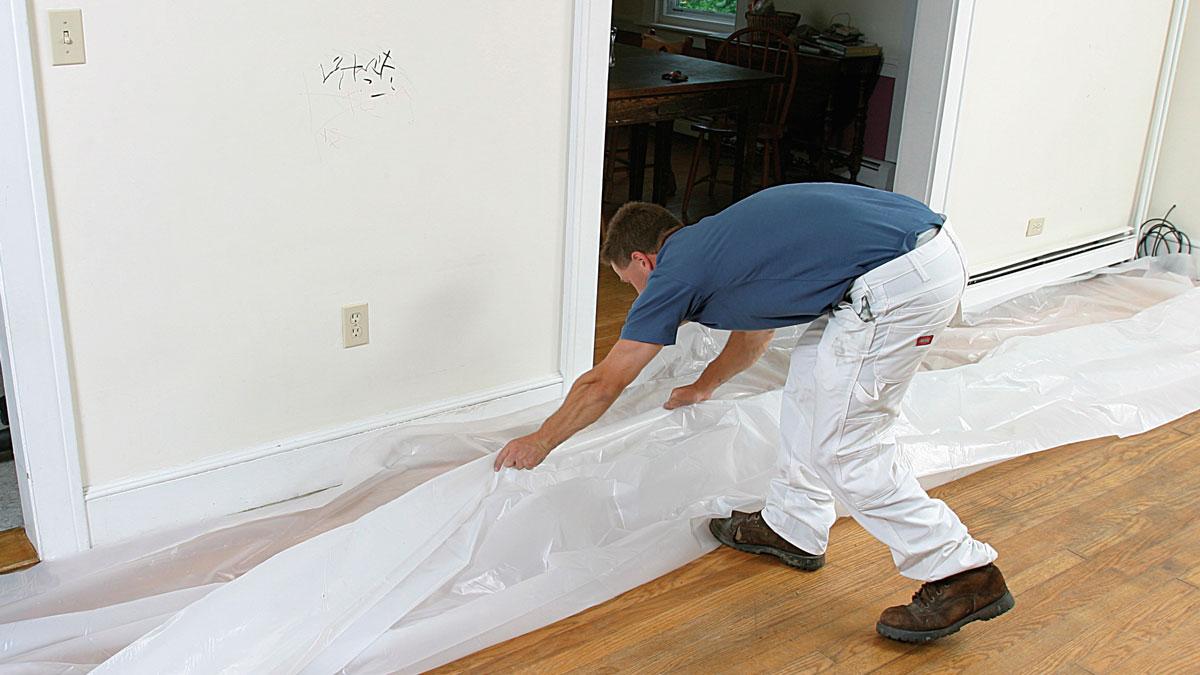How do I prep a room for paint?