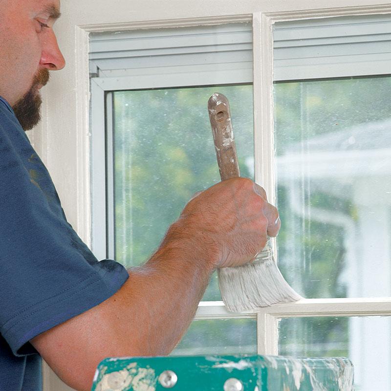 Paint window frames.