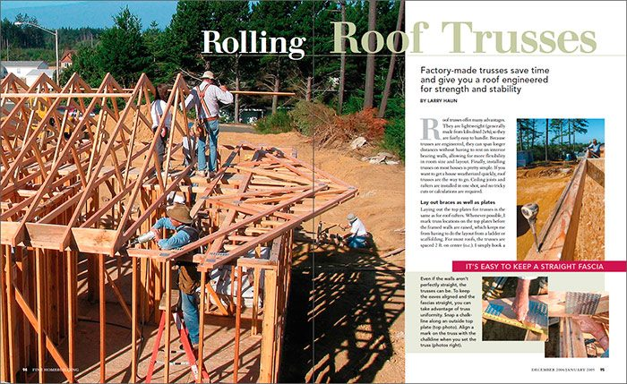 Rolling Roof Trusses