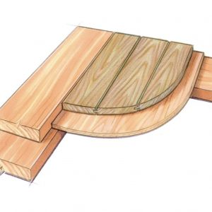 Plywood and paneling detai