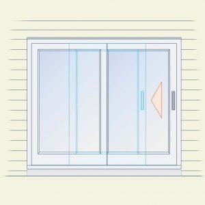 Right-sliding unit (exterior view)