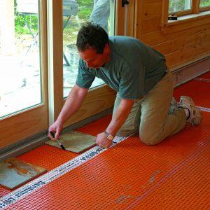 measure layout tile floor