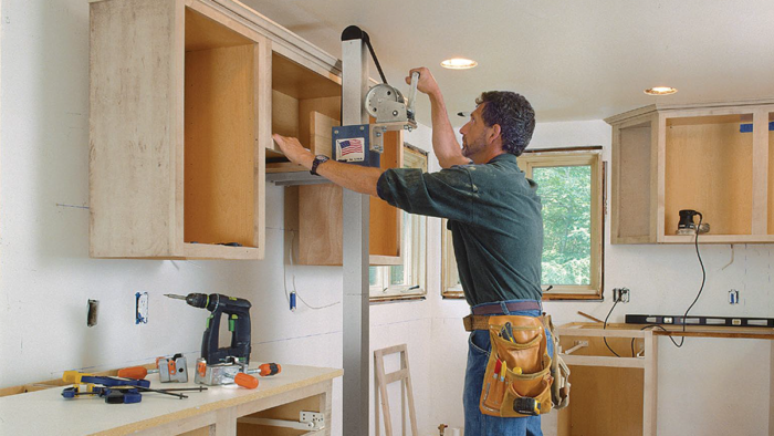 Installing Kitchen Cabinets, Smooth and Solo - Fine Homebuilding