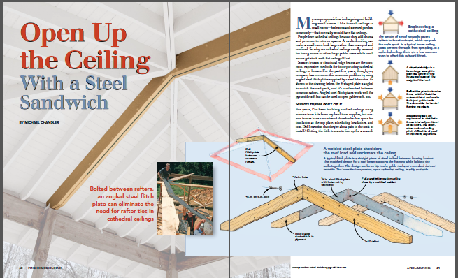 opening up a ceiling magazine spread
