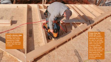 framing a gable wall