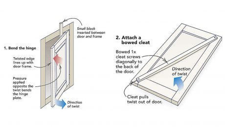 fixing-warped-cabinet-doors
