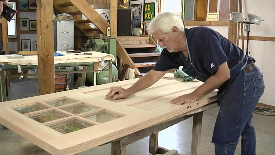 how to sand exterior door for refinishing