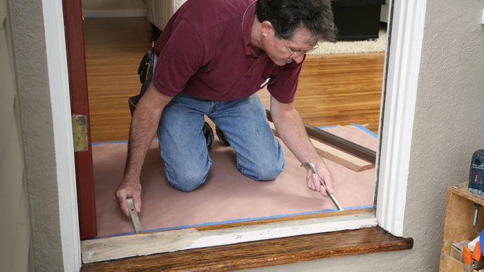 Replacing A Door Threshold Fine Homebuilding