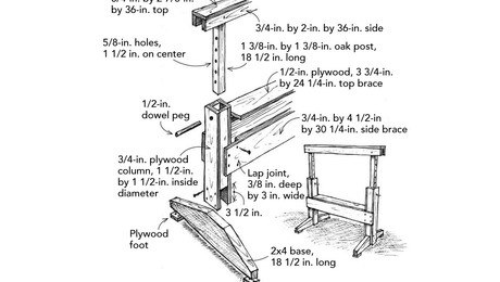 Adjustable-Height Sawhorse
