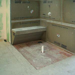 barrier-free bathroom floor pitching