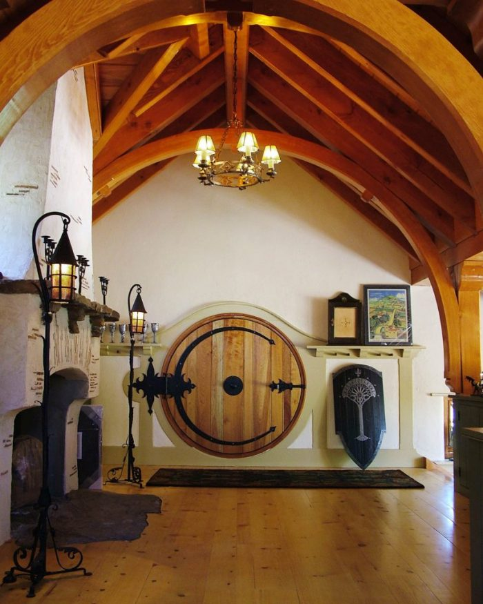 real Hobbit house round door