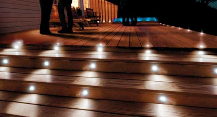 Accent Lighting For A Deck