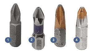 Phillips-head screwdriver bits