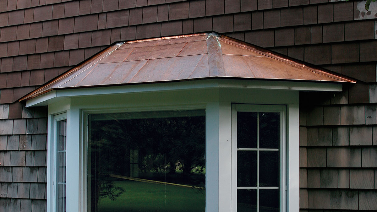 A Flat Seam Copper Roof For A Bay Window Fine Homebuilding