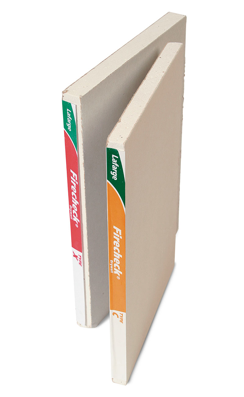 type-X and type-C fire-resistant drywall