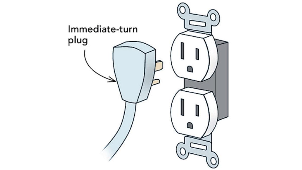 Sketch of immediate turn plug