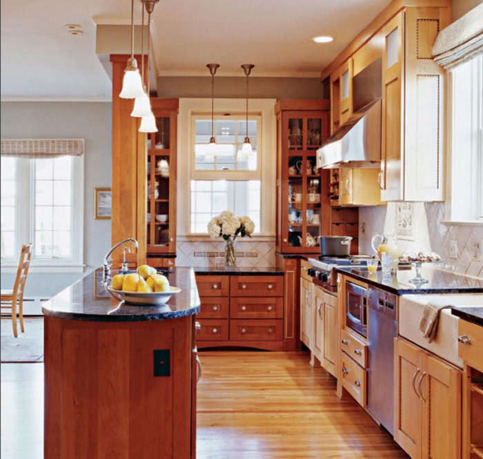 A Narrow Kitchen Opens Up Fine Homebuilding