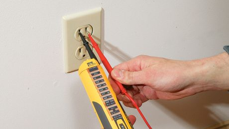 testing electrical outlet to see if power is off