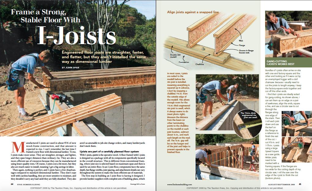 engineered floor joists magazine layout