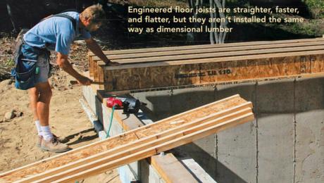 engineered floor joists building