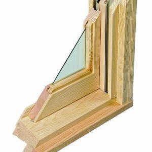 Single- glazed solid wood