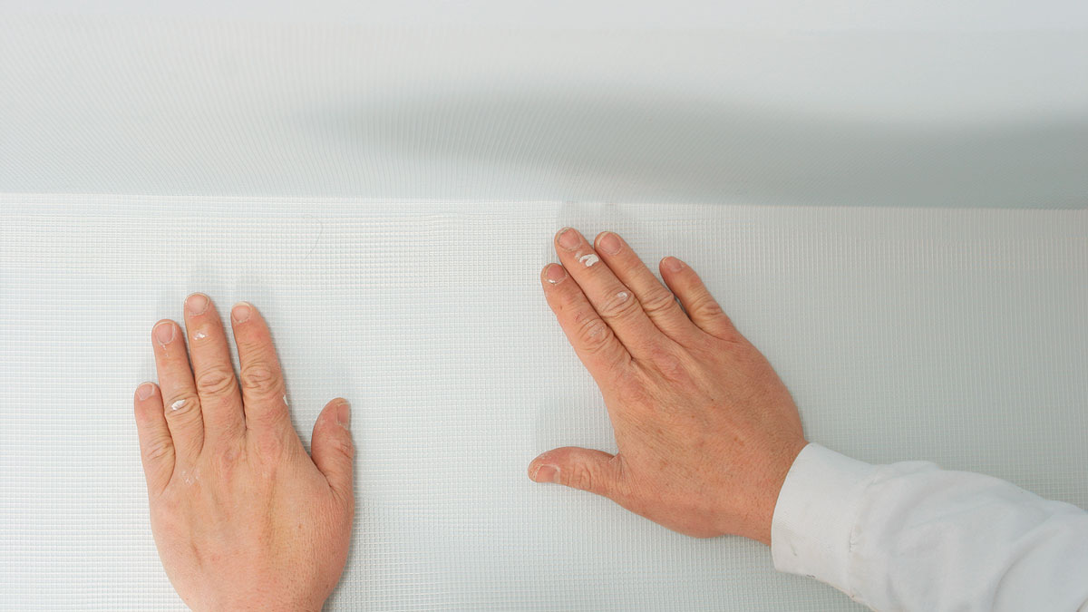 overlapping adhesive mesh