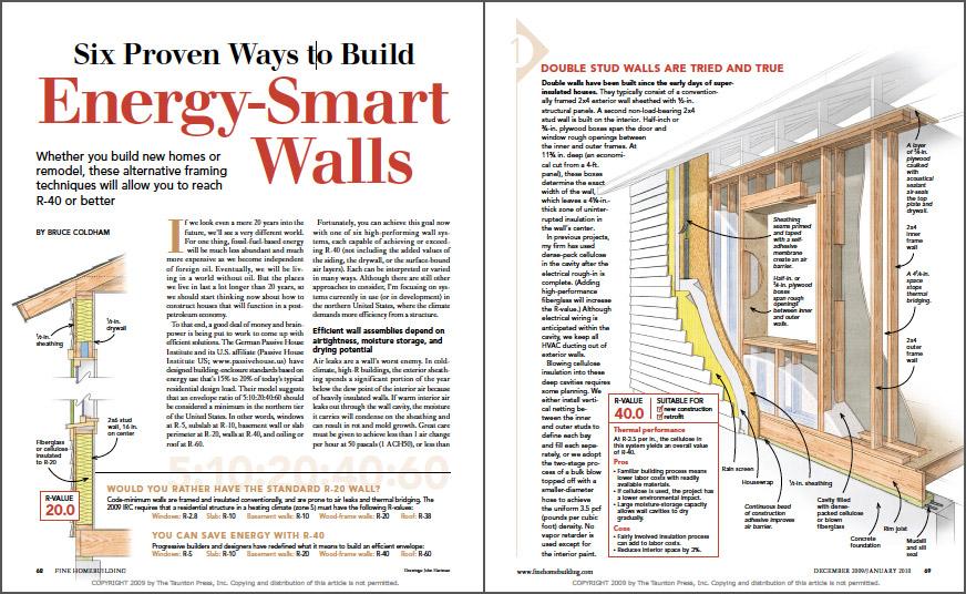 Six Proven Ways to Build Energy-Smart Walls spread
