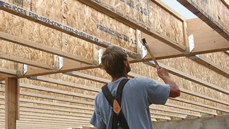 builder with engineered floor joists
