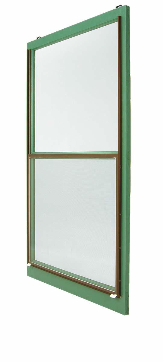 Wooden green window frame
