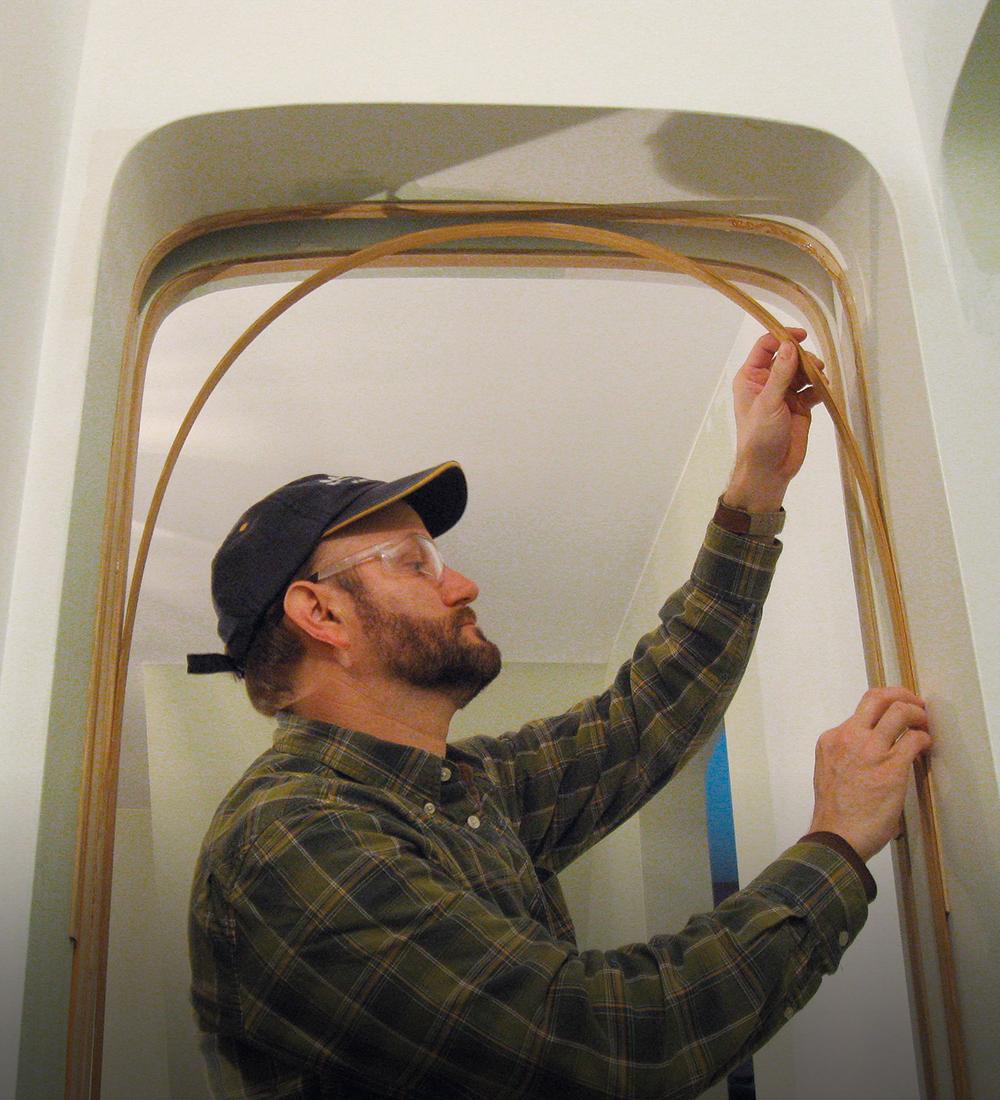 bent stops for arched doorway
