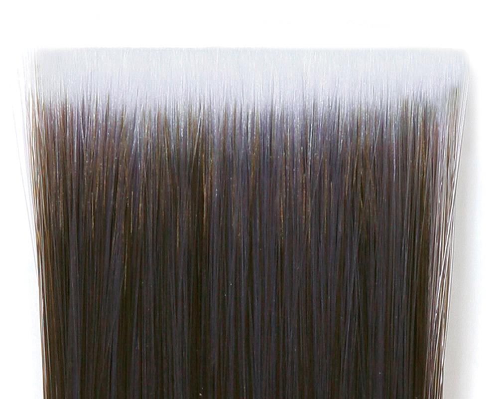 flat paintbrush bristles
