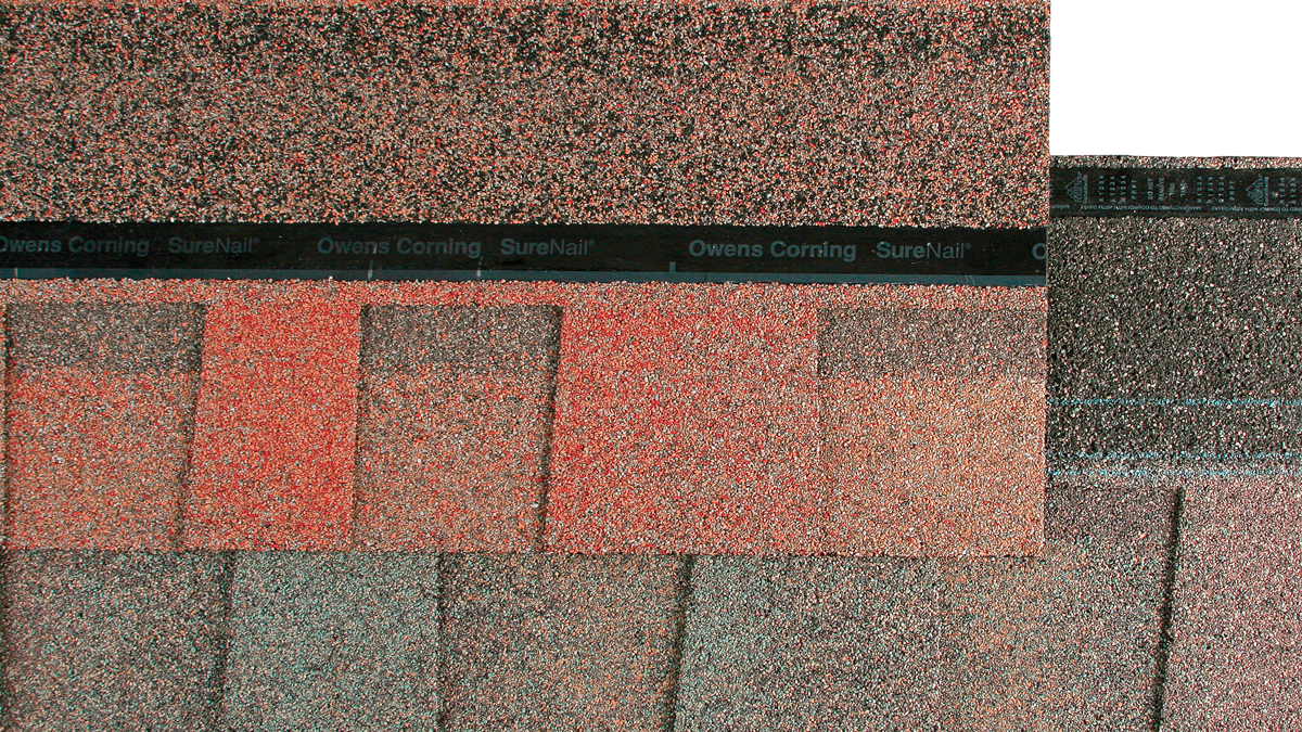 Ceramic-coated granules improve solar reflectance.